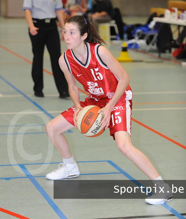 Dames Basket Waregem Two : Emily Lecompte.foto VDB / BART VANDENBROUCKE