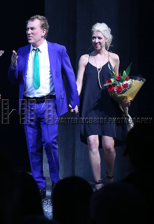 Des McAnuff and Kelly Devine during the Broadway Opening Night Performance Curtain Call for 'Doctor Zhivago' at The Broadway Theatre on April 21, 2015 in New York City.