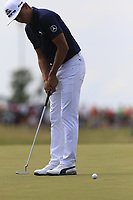 Rickie Fowler (USA) putts on the 6th green during Friday's Round 2 of the 117th U.S. Open Championship 2017 held at Erin Hills, Erin, Wisconsin, USA. 16th June 2017.<br /> Picture: Eoin Clarke | Golffile<br /> <br /> <br /> All photos usage must carry mandatory copyright credit (&copy; Golffile | Eoin Clarke)