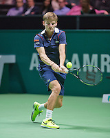 Februari 09, 2015, Netherlands, Rotterdam, Ahoy, ABN AMRO World Tennis Tournament, David Goffin  (BEL)<br /> Photo: Tennisimages/Henk Koster