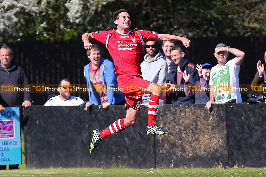 Sam Newson of Needham Market celebrates scoring the second goal of the game - Needham Market vs Harlow Town - Ryman League Division One North Football at Bloomfields, Needham Market, Suffolk  - 18/04/15 - MANDATORY CREDIT: Gavin Ellis/TGSPHOTO - Self billing applies where appropriate - contact@tgsphoto.co.uk - NO UNPAID USE