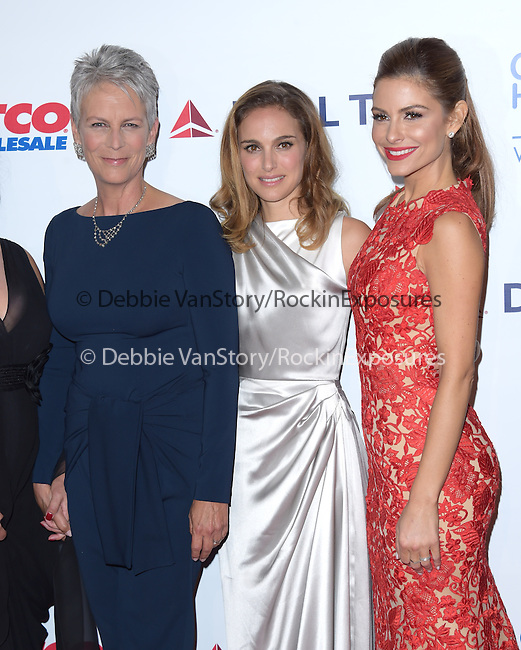 Jamie Lee Curtis, Natalie Portman and Maria Menounos attends The Children's Hospital Los Angeles Gala: Noche de Ninos held at The Event Deck at Nokia Live in Los Angeles, California on October 11,2014                                                                               © 2014 Hollywood Press Agency