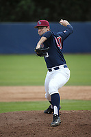 Cory Abbott (40) of the Loyola Marymount Lions pitches against the Washington State Cougars at Page Stadium on February 26, 2017 in Los Angeles, California. Loyola defeated Washington State, 7-4. (Larry Goren/Four Seam Images)