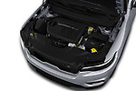 Car stock 2018 Jeep Cherokee Limited 5 Door SUV engine high angle detail view