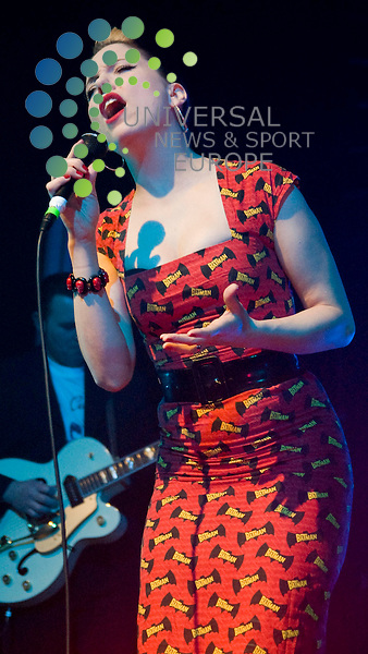 Dublins' Rock'n'roll sensation, Imelda May, performing to a sold out crowd at Glasgows' O2 ABC. Picture:Wullie Marr/ Universal News And Sport (Scotland) 15 February 2011