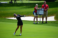 Belen Mozo (ESP) hits her approach shot on 16 during Thursday's round 1 of the 2017 KPMG Women's PGA Championship, at Olympia Fields Country Club, Olympia Fields, Illinois. 6/29/2017.<br /> Picture: Golffile | Ken Murray<br /> <br /> <br /> All photo usage must carry mandatory copyright credit (&copy; Golffile | Ken Murray)