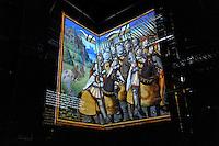 Milano, Castello Sforzesco, La Sala delle Asse riapre per EXPO 2015 e presenta &ldquo;il Leonardo ritrovato&rdquo;. Lavori di restauro per il recupero del monocromo e nuove tracce di disegni attribuibili a Leonardo. Progetto multimediale basato su proiezioni, ologrammi e immagini multi spettrali.<br /> Milan, Castello Sforzesco, La Sala delle Asse reopens for EXPO 2015 and presents &quot;the rediscovered Leonardo &quot;. Restoration works for the recovery of the monochrome and new traces of drawings attributed to Leonardo. Multimedia project based on projections, holograms and multispectral images.