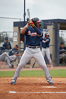Atlanta Braves Darling Florentino (18) during a Minor League Spring Training game against the New York Yankees on March 12, 2019 at New York Yankees Minor League Complex in Tampa, Florida.  (Mike Janes/Four Seam Images)