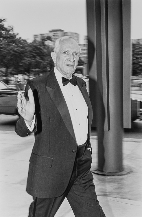 "Rep. Jack Brooks, D-Tex. in front of Kennedy Center entering ""Phantom of Opera"" on June 6, 1991. (Photo by Laura Patterson/CQ Roll Call)"