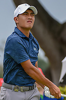 Lloyd Jefferson GO (PHI) watches his tee shot on 12 during Rd 4 of the Asia-Pacific Amateur Championship, Sentosa Golf Club, Singapore. 10/7/2018.<br /> Picture: Golffile | Ken Murray<br /> <br /> <br /> All photo usage must carry mandatory copyright credit (© Golffile | Ken Murray)