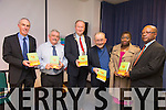 Book by Jane Beatrice Ejim called 'Triad of Poetry and Stories' was official launched by Mayor of Tralee Cllr Jim Finucane at Tralee Library on Thursday. Pictured Tommy O'Connor, Sean Lyons, Jim Finucane, Padraig O'Fiannachta, Jane Beatrice Ejim and Emeka Ezebuiro