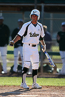 February 28, 2010:  Center Fielder Ryan Lockwood of the South Florida University Bulls during the Big East/Big 10 Challenge at Raymond Naimoli Complex in St. Petersburg, FL.  Photo By Mike Janes/Four Seam Images