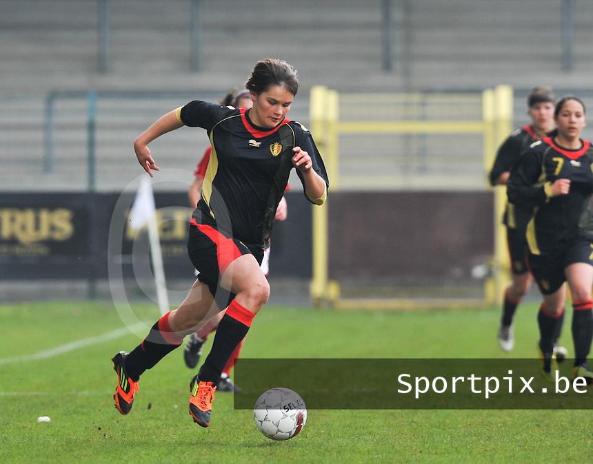 UEFA Women's Under 17 Championship - Second Qualifying round - group 1 : Switzerland - Belgium  : .Lotte Aertsen.foto DAVID CATRY / Vrouwenteam.be