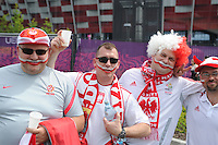 08.06.2012 Warsaw, Poland.  Polish fans outside the stadium before the European Championship Group A game between Poland and Greece from the National Stadium.....