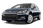 Low aggressive front three quarter view of a 2010 Citroen C4 Millenium 5 Door Hatchback 2WD