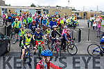 Ready for road at the Ardfert Kids Cycle at the School on Sunday morning.