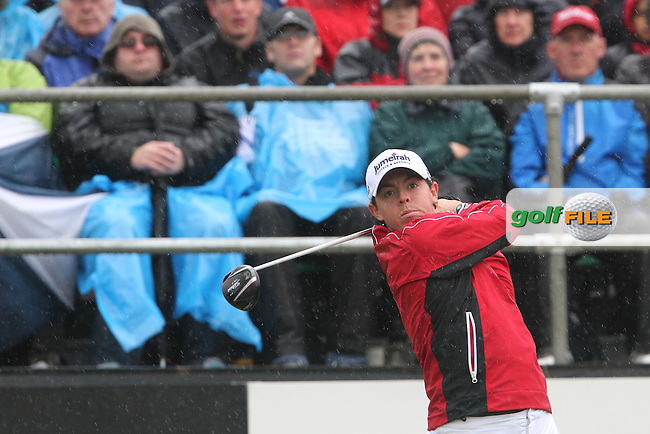 Rory McIlroy on the 1st on Day 3 of the 2012 Irish Open at Royal Portrush Golf Club, Portrush, Co.Antrim, 30/6/12...(Photo Jenny Matthews/www.golffile.ie)