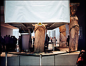 Athens 23.10.2011 Greece<br /> Renovation of the Caryatid in the Acropolis museum.<br /> For many years Greek governments increased spending despite unability to settle the public debt reaching now the amount of 300 billion euros. But that is not the sole problem. The Greek economy crises is also due to the corruption that pervades every corner of day to day life in the country. Transparency International proves that bribery, patronage and other public corruption costs .Greece 8% of its GDP annually, placing the counrty among top of the list of countries drowning in systemic corruption.<br /> Photo: Adam Lach / Napo Images<br /> <br /> Renowacja Kariatyd w muzeum Akropolu.<br /> Przez wiele lat greckie rzady zwiekszaly wydatki bez pokrycia, wynikiem tego jest skumulowanie dlugu publicznego do potwornych rozmiarow - ok 300 mld euro. Lecz to nie jedyny problem. Przyczyna greckiego kryzysu jest r&oacute;wnie? korupcja systemowa. Jak dowodzi Organizacja Transparncy International, rocznie, greckie gospodarstwa domowe wydaja na lapowki prawie 800 mln euro. To plasuje Ateny na czele listy krajow pograzonych w systemowej korupcji.<br /> Fot: Adam Lach / Napo Images