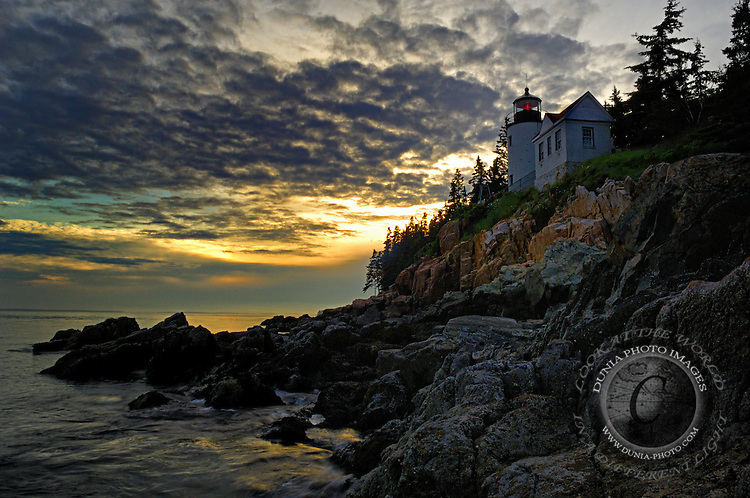 Bass Harbor Head Lighthouse is near Acadia National Park on the southeast corner of Mount Desert Island, Maine.