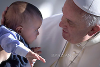 Pope Francis  during his weekly general audience in St. Peter square at the Vatican, Wednesday.27 May 2015
