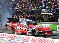 Oct 17, 2015; Ennis, TX, USA; NHRA funny car driver John Force during qualifying for the Fall Nationals at the Texas Motorplex. Mandatory Credit: Mark J. Rebilas-USA TODAY Sports