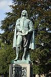 Statue of John Bunyan, St Peter's Street, Bedford, England