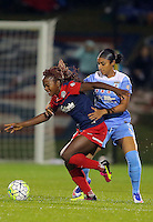 Boyds, MD - Friday Sept. 30, 2016: Francisca Ordega, Samantha Johnson during a National Women's Soccer League (NWSL) semi-finals match between the Washington Spirit and the Chicago Red Stars at Maureen Hendricks Field, Maryland SoccerPlex. The Washington Spirit won 2-1 in overtime.