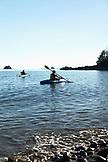 USA, Alaska, Sitka, kayakers in Halibut Cove, Sitka Sound