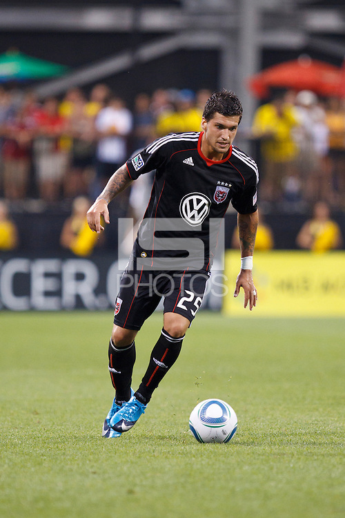 26 JUNE 2010:  Santino Quaranta during MLS soccer game between DC United vs Columbus Crew at Crew Stadium in Columbus, Ohio on May 29, 2010. The Crew defeated DC United 2-0.