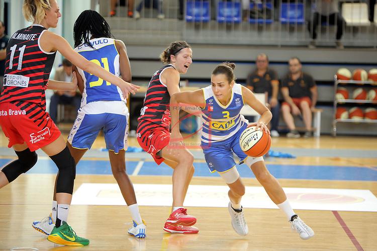 XXVIII Lliga Catalana Femenina 2016.<br /> Cadi La Seu vs Spar Citylift Girona: 71-57.<br /> Noemi Jordana vs Andrea Vilaro.