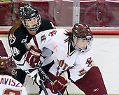 Abby Gauthier (Providence - 14), Brie Baskin (Boston College - 4) - The Providence College Friars and Boston College Eagles tied at 1 on BC's senior night on Saturday, February 21, 2009, at Conte Forum in Chestnut Hill, Massachusetts.