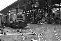 - iron wrecks storage at Falck steel factory in Sesto S.Giovanni (Milan, March 1988)<br /> <br /> - deposito rottami di ferro presso l'acciaieria Falck di Sesto S.Giovanni (Milano, marzo 1988)