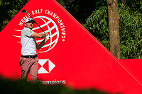 Keegan Bradley (USA) on the 9th tee during the final round at the WGC HSBC Champions 2018, Sheshan Golf CLub, Shanghai, China. 28/10/2018.<br /> Picture Fran Caffrey / Golffile.ie<br /> <br /> All photo usage must carry mandatory copyright credit (&copy; Golffile | Fran Caffrey)
