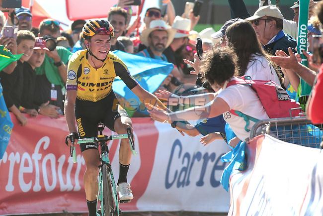 Cycling: Vuelta Espana 2019 / Tour of Spain 2019/ La Vuelta/ Etapa 15/ Stage 15/ .LLEGADA/ ARRIVAL/ SPRINT/ CELEBRACION CELEBRATION/ KUSS Sepp (USA).Tineo - Santuario del Acebo (154,4 km) 08-09-2019/.Vuelta Espana 2019 / La Vuelta/ Tour of Spain 2019/.Luis Angel Gomez .©PHOTOGOMEZSPORT2019