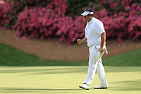 Kiradech Aphibarnrat (THA) on the 13th green during the 1st round at the The Masters , Augusta National, Augusta, Georgia, USA. 11/04/2019.<br /> Picture Fran Caffrey / Golffile.ie<br /> <br /> All photo usage must carry mandatory copyright credit (© Golffile | Fran Caffrey)