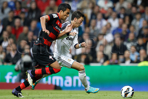20.10.2012 Madrid, Spain.  La Liga football. Real Madrid CF vs  Celta (2-0) at Santiago Bernabeu stadium. The picture shows Mesut Ozil (German midfielder of Real Madrid)