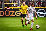 11.05.2019, Signal Iduna Park, Dortmund, GER, 1.FBL, Borussia Dortmund vs Fortuna Düsseldorf, DFL REGULATIONS PROHIBIT ANY USE OF PHOTOGRAPHS AS IMAGE SEQUENCES AND/OR QUASI-VIDEO<br /> <br /> im Bild | picture shows:<br /> Markus Suttner (Fortuna #14) setzt sich durch, <br /> <br /> Foto © nordphoto / Rauch
