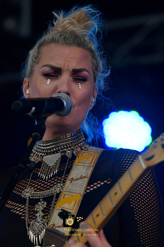 Hollie Smith performing at Jim Beam Homegrown, Wellington Waterfront, New Zealand on Saturday 7 April 2018.<br /> Photo by Masanori Udagawa. <br /> www.photowellington.photoshelter.com
