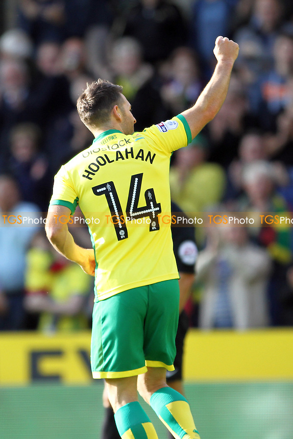 Wesley Hoolahan of Norwich City celebrates his goal during Norwich City vs Rotherham United, Sky Bet EFL Championship Football at Carrow Road on 15th October 2016