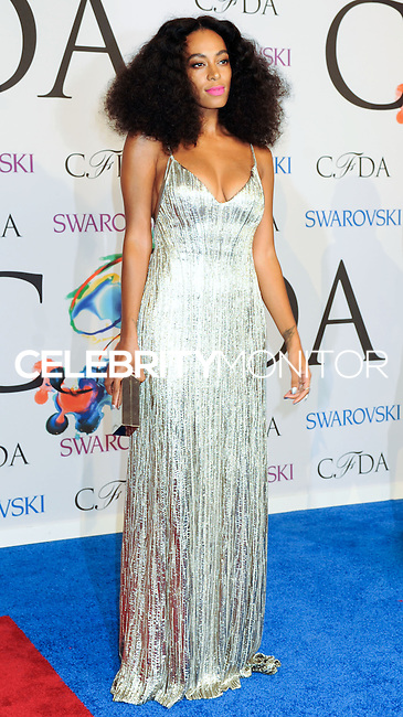 NEW YORK CITY, NY, USA - JUNE 02: Solange Knowles arrives at the 2014 CFDA Fashion Awards held at Alice Tully Hall, Lincoln Center on June 2, 2014 in New York City, New York, United States. (Photo by Celebrity Monitor)