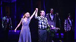 "Kerry Butler and Rob McClure during the Broadway Opening Night Performance Curtain Call for ""Beetlejuice"" at The Winter Garden on April 25, 2019 in New York City."