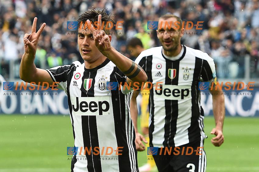 esultanza gol Paulo Dybala goal celebration<br /> Torino 14-05-2016 Stadio Olimpico Football Calcio Serie A 2015/2016 Juventus-Sampdoria. Foto Matteo Gribaudi / Image Sport / Insidefoto