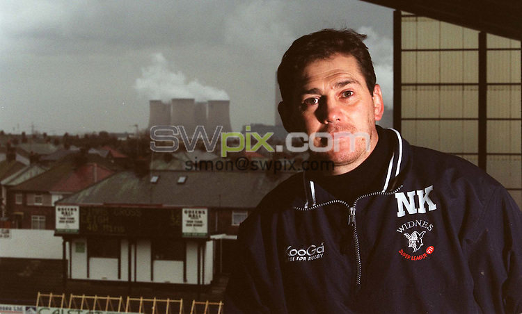 Pix: Ben Duffy/SWpix.com. Rugby League, Widnes Vikings Coach, Neil Kelly. Feature 21/02/2002...COPYWRIGHT PICTURE>>SIMON WILKINSON>>01943 436649>>..The Super League New Boys....Widnes Viking's Coach, Niel Kelly