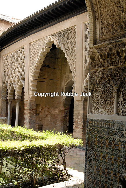 El Alcazar in Seville, Spain.