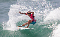 Huntington Beach, CA - Saturday August 05, 2017:Carlos Munoz during a World Surf League (WSL) Qualifying Series (QS) fifth round heat in the 2017 Vans US Open of Surfing on the South side of the Huntington Beach pier.