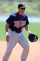 March 18, 2010:  Third Baseman Jairo Perez (13) of the Minnesota Twins organization during Spring Training at the Ft. Myers Training Complex in Ft. Myers, FL.  Photo By Mike Janes/Four Seam Images