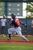 Cleveland Indians Jose Medina (33) during an instructional league game against the Cincinnati Reds on October 17, 2015 at the Goodyear Ballpark Complex in Goodyear, Arizona.  (Mike Janes/Four Seam Images)