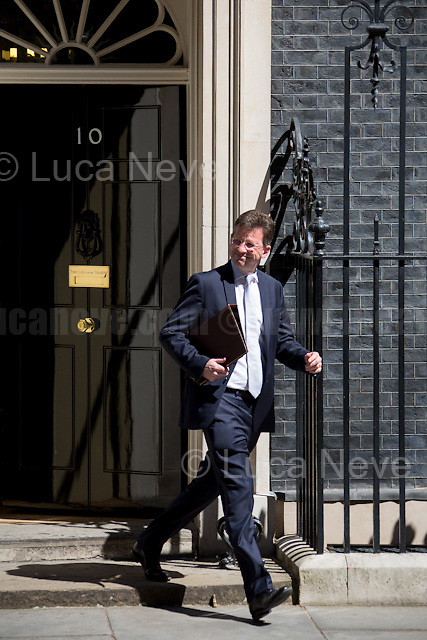 Jeremy Wright QC MP (Attorney General).<br /> <br /> London, 19/07/2016. First Cabinet meeting at 10 Downing Street (after the EU Referendum and consequent David Cameron's resignation) for the new Prime Minister Theresa May and her newly formed Conservative Government.<br /> <br /> For more information about the Cabinet Ministers: https://www.gov.uk/government/ministers