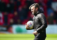Lincoln City's assistant manager Nicky Cowley during the pre-match warm-up<br /> <br /> Photographer Andrew Vaughan/CameraSport<br /> <br /> The EFL Sky Bet League Two - Lincoln City v Cheltenham Town - Saturday 13th April 2019 - Sincil Bank - Lincoln<br /> <br /> World Copyright © 2019 CameraSport. All rights reserved. 43 Linden Ave. Countesthorpe. Leicester. England. LE8 5PG - Tel: +44 (0) 116 277 4147 - admin@camerasport.com - www.camerasport.com