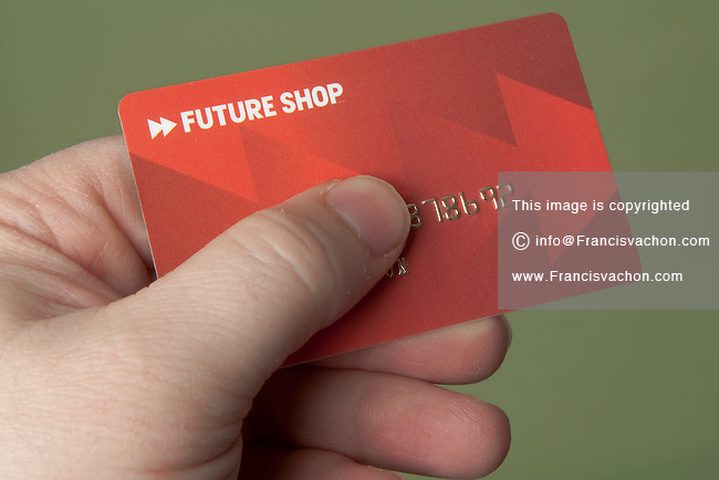 A Future Shop credit card is pictured Thursday February 10, 2011.